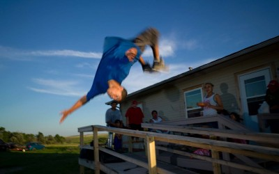 Backflip, Allen, Pine Ridge Reservation.  Allen has been called the poorest town in America and is part of the Pine Ridge Reservation.  Over 90 percent of Pine Ridge residents live below the federal poverty line, and the unemployment rate hovers between 85 and 90 percent.
