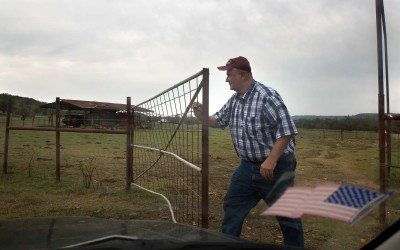 "Elkins, Arkansas: ""You've gotta be an optimist to be in the cattle business,"" Alan Shumate says. ""If you don't love it, it's not profitable enough to spend the time."" Aside from raising grass-fed beef, he works full-time as a truck dispatcher at a turkey-processing plant and cuts and sells hay."