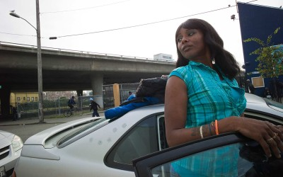 "Tyeshia Anderson, 29, is a self-employed hair stylist, recovering crack addict, and prostitute. She was formerly homeless, living on the streets in stolen cars under bridges. ""She just lived to do drugs. Heroin and crack were her favorites."" She now tries to talk girls out of the life, and to get her boyfriend off drugs as well. She has two children, Shalimar, 3, and Orlando, 5."
