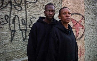 """You stay on the streets so long you get dirty. When you play in the dirt, you will get dirty."" Terrance, 39, and Rayette, 43. A would-be robber shot Terrance four times; he had no medical insurance and was in rehabilitation for 21 months. When he came out he had no job, no money, and was addicted to painkillers. He became a mule for drug dealers and went to prison. When he was released in 2010, he was addicted to heroin, and forced to live on the street as a scavenger where he met his girlfriend Rayette. She had a nervous breakdown after the death of parents, spent three years in jail for drugs, got out and became a taxi dispatcher, attended Vista community college and also worked as a hotel receptionist, but kept chipping at drugs and fell into depression. After four more years in prison, she went to John Muir Hospital, but her condition became worse and she left the hospital delusional, stranded, and lost. Living on the street again, she became addicted to crack."