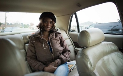 """Angela, 29. Quit high school at 16 and became a prostitute and drug dealer; the corner she worked was 79th and MacArthur. At 18 she relocated to L.A. and got busted by undercover cops for prostitution. She was in jail for two weeks, moved back to Oakland, and worked the streets for two more years, after which she made enough money to move to Arizona with her mother for a change of scenery. She met her future husband, who she turned on to crack. He promptly got addicted and she left him because she caught him sucking a dog's penis. She was pregnant and miscarried, became depressed and a heavy user of heroin. She got pregnant again, but her boyfriend was a sadist; he would tie her up to trees and beat her when she tried to get away. Sometimes he left her tied up for days, until some brave soul would release her. He was a major player on the street and a cold-blooded killer; after her last beating she lost her second baby. He went to prison for a long jolt and she returned to the streets, but only offers oral sex. She earns $3-400 a night, and since 2011 has been trying to kick her crack habit. """"But what I am really addicted to is the control, when I can control a man with my sex, it really gets me off, also I like the money. But if I stay out on the streets too long, I could get cut up or sick. So far I have never been sick, I make the tricks wear condoms. But nothing is safe, that is why I only do blowjobs. I do not give my pussy up for just anyone either, especially on the streets. I have a stable habit; I smoke crack for the buzz."""""""