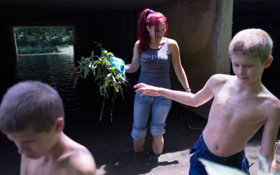 Sarah and her sons can do whatever they want to do without being yelled at or beaten or threaten. Even a simple activity like walking in the creek feels like  a privilege after living in what felt like a prison.