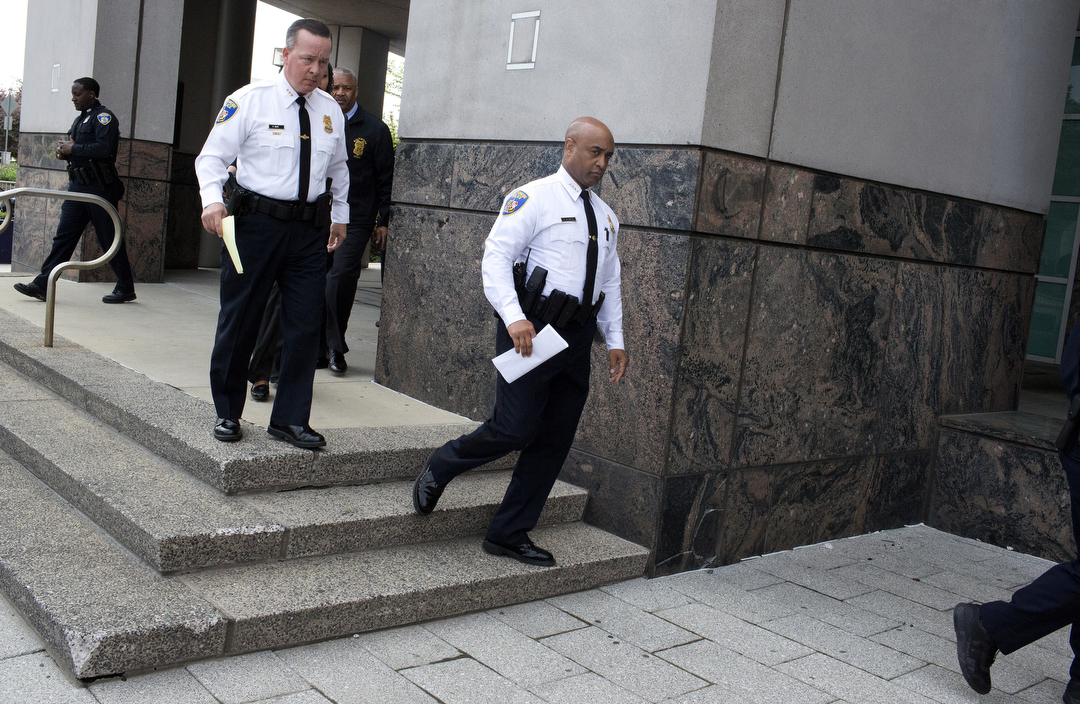 Baltimore Police Commissioner Anthony Batts announces at police headquarters that little progress has been made int the investigation of how Freddie Gray died in police custody.