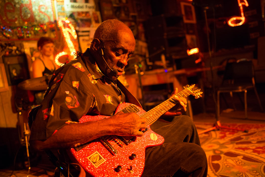 83-year-old Leo Bud Welch sings the Blues at Red's Lounge in Clarksdale, Mississippi, who many call the home of the Blues.