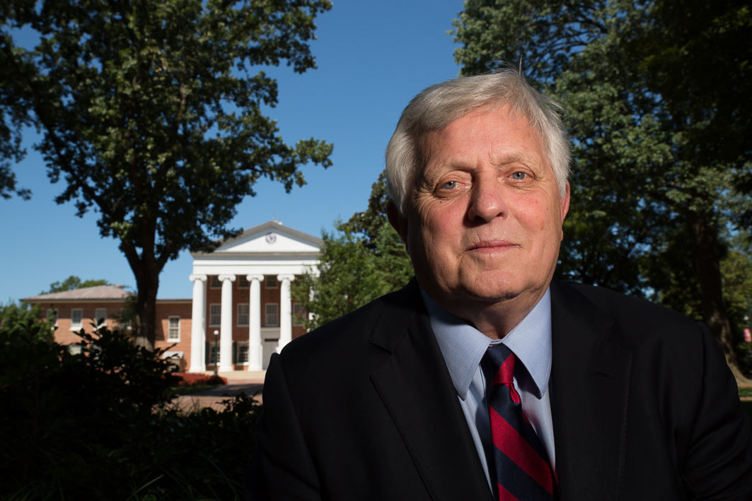 Portrait of Robert Khayat who as Chancellor of Ole Miss (University of Mississippi) singlehandedly helped remove the Confederate flag in 1997 from Ole Miss football games.